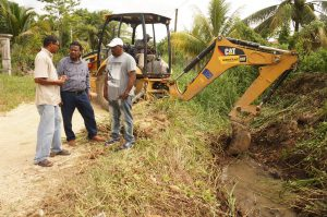 Castro inspects flood mitigation work