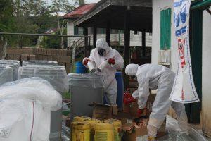 hazardous material stored