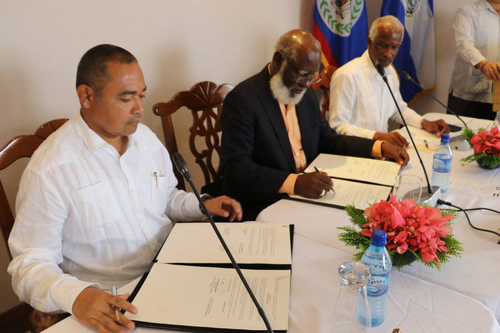 Signing MOU with El Salvador