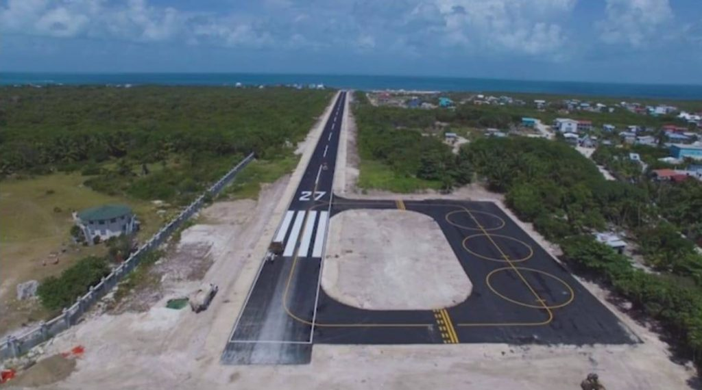Caye Caulker new runway nearly complete