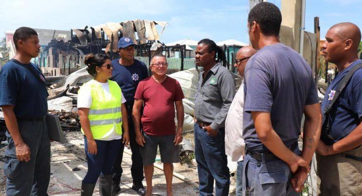 Ministers inspect damage of SP Blaze